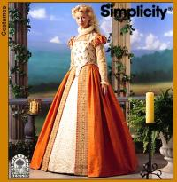 Woman wearing Simplicity 8881 - a dress similar to one from Shakespeare in Love movie